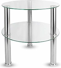 Maison & White Small Round Glass 2 Tier Table |