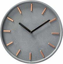 MAISONICA 27cm Concrete Wall Clock - Grey & Gold