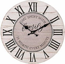 Maisonica 34cm Wall Clock Family Time - Wooden