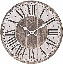 Maisonica 34cm Wall Clock French Design - Wooden