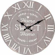 Maisonica 34cm Wall Clock Grey Home Sweet Home -