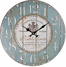 MAISONICA 34cm Wooden Wall Clock - French Chateau