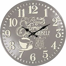 Maisonica 40cm Metal Wall Clock - Taupe Brown &