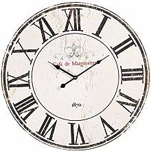 Maisonica 60cm Wooden Wall Clock Black & Cream