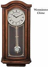 Maisonica Broken Arch Wooden Pendulum Wall Clock