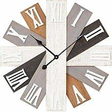 Maisonica Fanned Wooden Plank Wall Clock 60cm