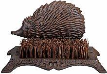 MAISONICA Hedgehog Shaped Cast Iron Shoe Scraper