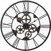 MAISONICA Large Black Cut Out Skeleton Round Wall