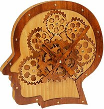 MAISONICA Modern Moving Wooden Cogs Head Shaped