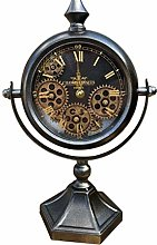 Maisonica Moving Gears Mantle Desk Table Clock -