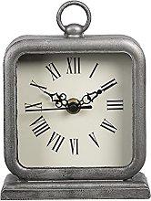 MAISONICA Table clock Gray Metal Rectangle