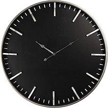MAISONICA Wall Clock Black MDF/metal Round