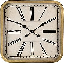 MAISONICA Wall Clock Brown Wood/iron Square