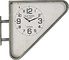 MAISONICA Wall Clock Green Iron/glass Triangle