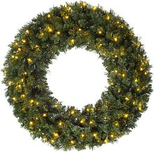 Majestic 100cm Lighted Artificial Wreath Three