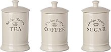 Majestic Tea, Coffee Sugar Canister Set (3)