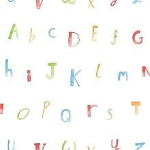 Make Believe Alphabet Kids Bedroom Wallpaper -