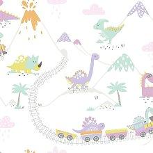 Make Believe Dino Town Heather Wallpaper 12532 -