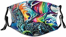 Make Face Mask Animal Dragon Colorful Wings Of Ice