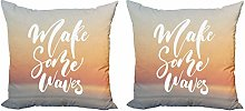 Make Waves Throw Pillow Cushion Cover Pack of 2
