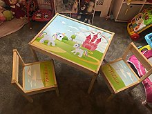 MakeThisMine Personalised Children's Table and 2