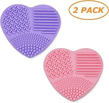 Makeup brush cleaner, silicone brush cleaning mat