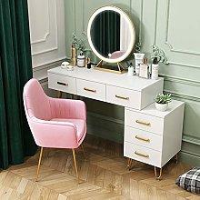 Makeup Dresser Desk, LED Lights Mirror, Large