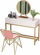 Makeup Table 2 Drawers White Dressing Table