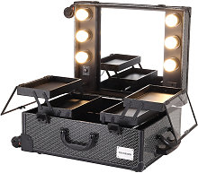 Makeup Trolley Rolling Case With Wheels Makeup LED