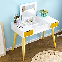 Makeup Vanity Table, Writing Desk with Cushioning