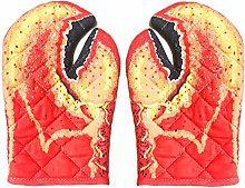 MAKG 2pcs Oven Gloves, Thick Cotton Oven