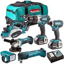 Makita 18V 6 Piece Power Tool Kit with 3 x 3.0Ah