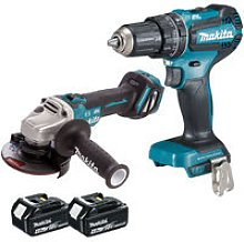 Makita 18V LXT Angle Grinder With Combi Drill with