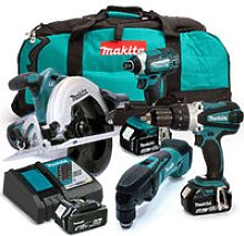 Makita 18V Quad Pack with 3 x 5.0Ah Batteries and