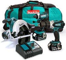 Makita 18V Triple Kit with 2 x 5.0Ah Batteries and