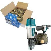 Makita AN613 Pneumatic Coil Nailer Air Pin Gun and