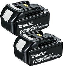 Makita BL1850 18V LXT 5.0Ah Li-Ion Battery Twin