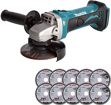 Makita DGA452Z 18V LXT 115mm Angle Grinder with 10