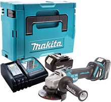 Makita DGA463Z Brushless Angle Grinder with 2 x