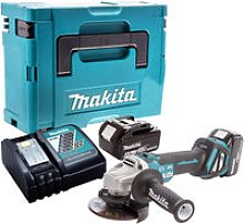Makita DGA467Z Brushless Angle Grinder with 2 x