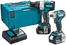 Makita DLX2214TJ 18V LXT Brushless Combi Drill &