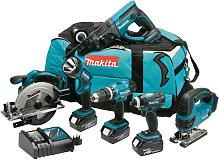Makita DLX6017M 18V 6 Piece Cordless Power Tool