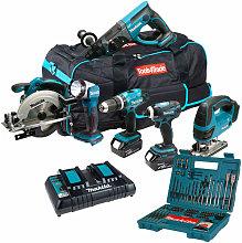 Makita DLX6068PT 18V 6 Piece Kit 3 x 5.0Ah