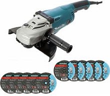 Makita GA9020 9in/230mm Angle Grinder 240V With 10