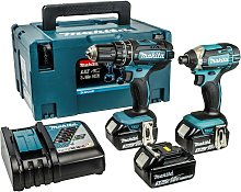 Makita LXT Combi and Impact Driver Twinpack - 18V