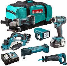 Makita T4T6012PM6 18V 6 Piece Cordless Power Tool