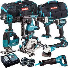 Makita TOPKIT8BJ 18V LXT 8 Piece Power Tool Kit