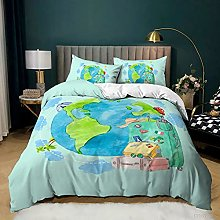 Maktn Children's Boys Earth Bedding Set Space