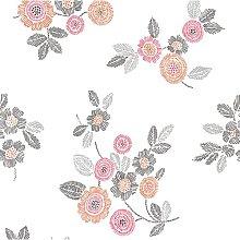 Malaga Floral 10m x 52cm Wallpaper Roll Lily Manor