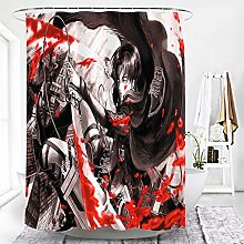 MALECUPWH Shower Curtain Mould Proof Resistant